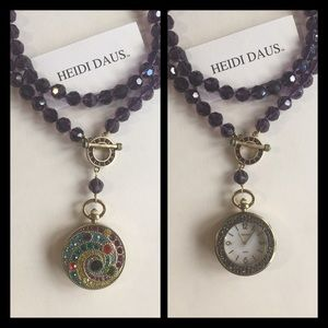 Heidi Daus Purple Beads Pendant Watch